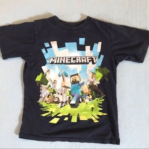 Minecraft Boy's blue Steve graphic cotton tee 5/6